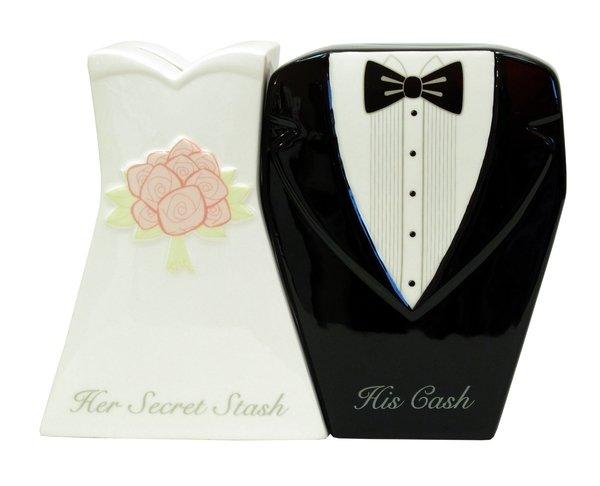 Mr. & Mrs. Wedding Bank Set of Two - 31741 - 20