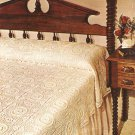Bridal Wreath Bedspread Crochet Pattern C 1019