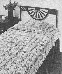 Star Popcorn Bedspread II Crochet Pattern  C 1023
