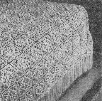 Textured in Beauty Bedspread Crochet Pattern C 1028