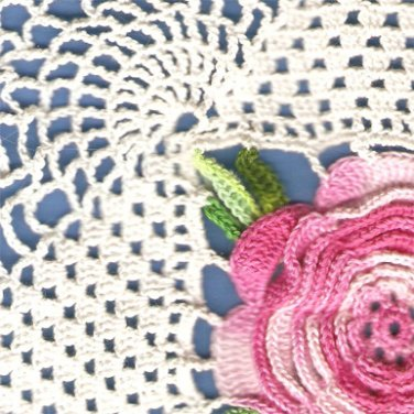 Square Rose Doily Crochet Pattern C 1201