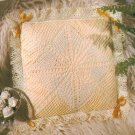 Flower Lace Pillow and Lingerie Bag Crochet Pattern C 1204