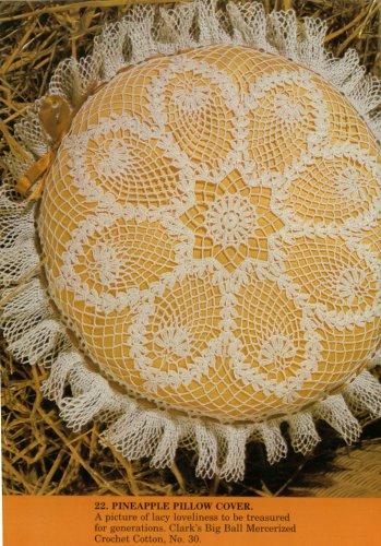 Ruffled Pineapple Pillow Cover Crochet Pattern C 1061