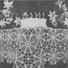 Birthday Tablecloth Crochet Pattern C 1003