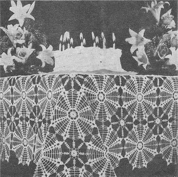 Birthday Tablecloth Crochet Pattern C 1003