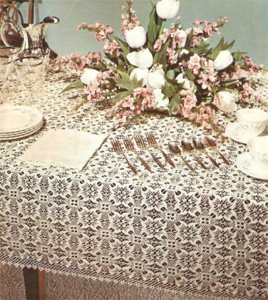 Jubilee Tablecloth Crochet Pattern  C 1032