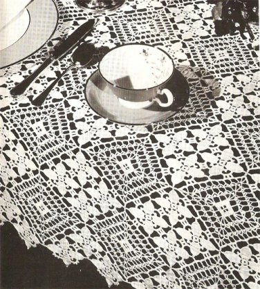 Medley Tablecloth Crochet Pattern C 1035