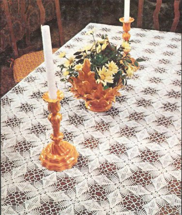 Panoply Pineapple Tablecloth Crochet Pattern  C 1037