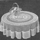1953 Round Tablecloth Crochet Pattern  C 1046