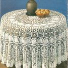 Intricate Round Pineapple Tablecloth Crochet Pattern  C 1017