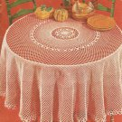 Round Filet Tablecloth Crochet Pattern C 1044