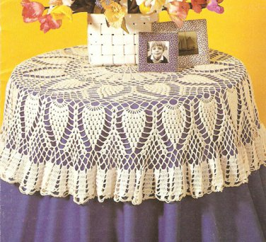 Round Pineapple Tablecloth II Crochet Pattern C 1042