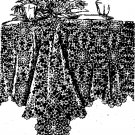 Seaman's Cobweb Tablecloth Crochet Pattern  C 1001