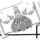 Colonial Girl with Crocheted Skirt Hand Embroidery Pattern