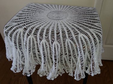 Cascade of Shells Round Tablecloth Pattern