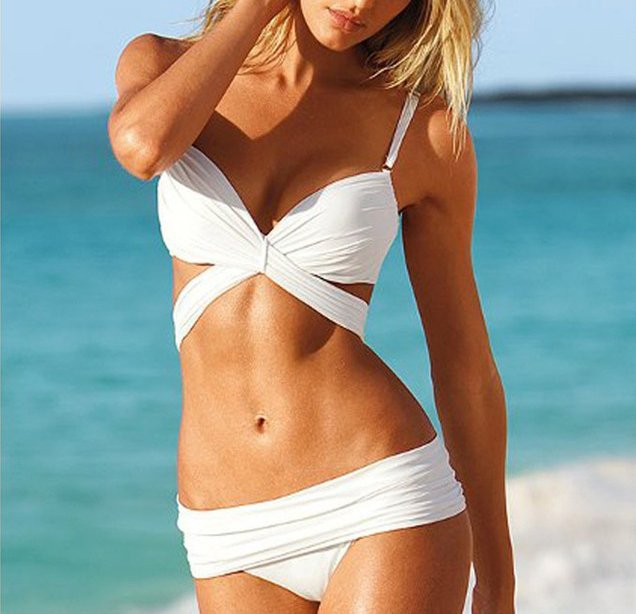 free shipping  Cross Bandage Bikini Swimsuit
