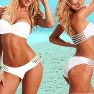free shipping white woman Bandage Bikini Swimsuit