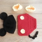 free shipping Mickey Mouse baby photo prop baby clothes knitted baby photo prop