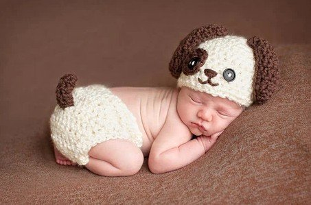 free shipping dog baby photo prop baby clothes knitted baby photo prop