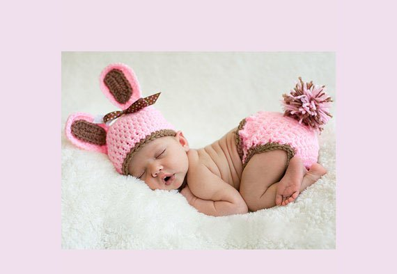 free shipping rabbit baby photo prop baby clothes knitted baby photo prop