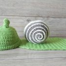 free shipping snail baby photo prop baby clothes knitted baby photo prop
