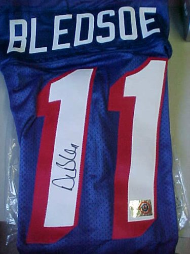 size 40 2eeaa 60e7a DREW BLEDSOE #11 Signed NEW ENGLAND PATRIOTS Jersey ...