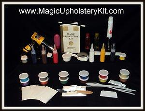 *Magic Upholstery Mega-Combo Kit : Repair Vinyl-Leather-Fabric-Velour-Carpet !