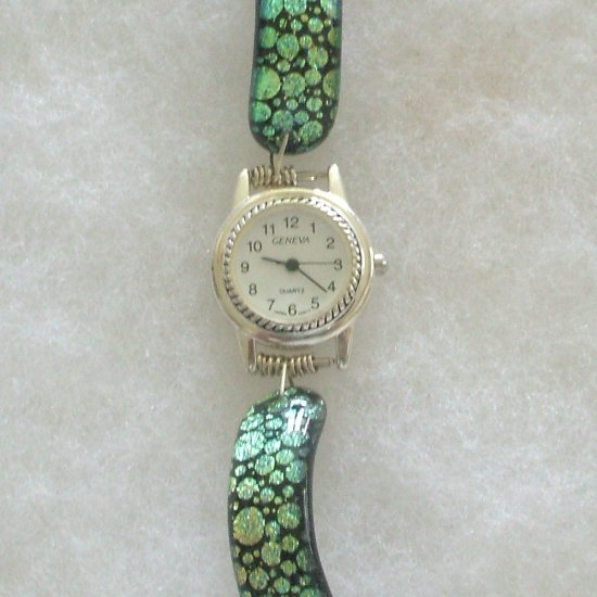Fused Glass Dichroic Watch Band