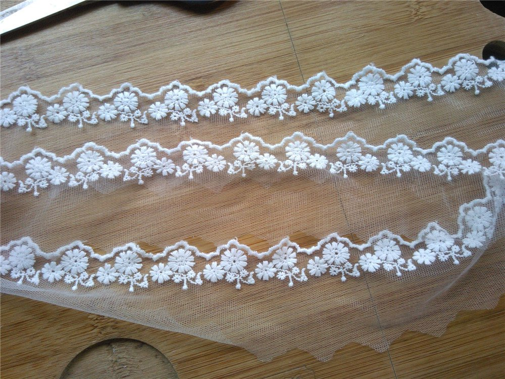 10yards wave Lace trim-white ribbon for sewing-LSENS009
