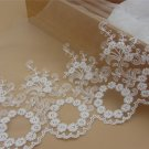 5yards embroidery Lace trim-white ribbon for sewing-LSENS040