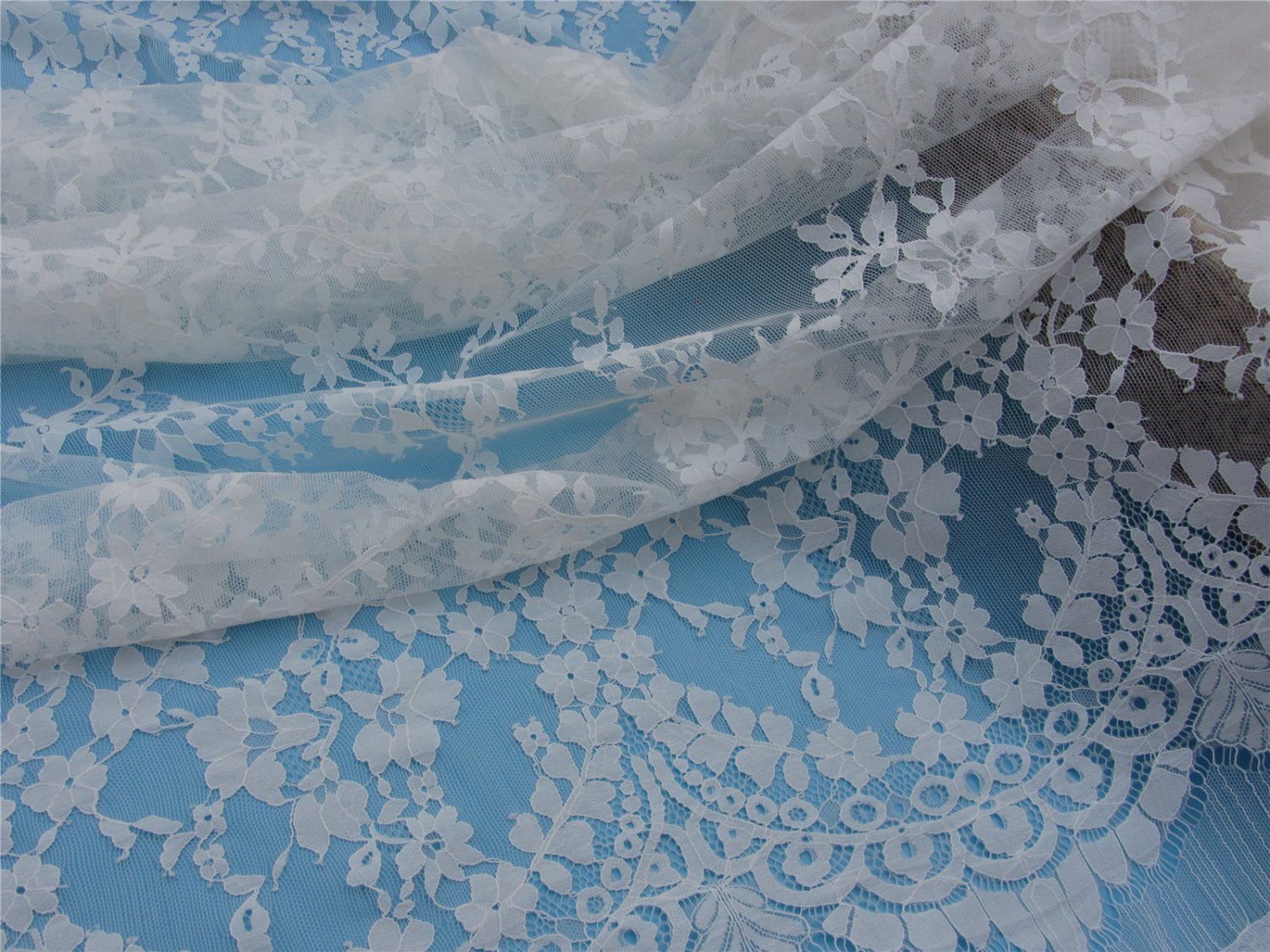 eyelash lace fabric,Chantilly Lace -3meters in 1pcs High quality-T006