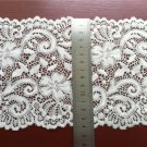 Stretch lace trim,5yards white lace,garter lace trimming-LSY003