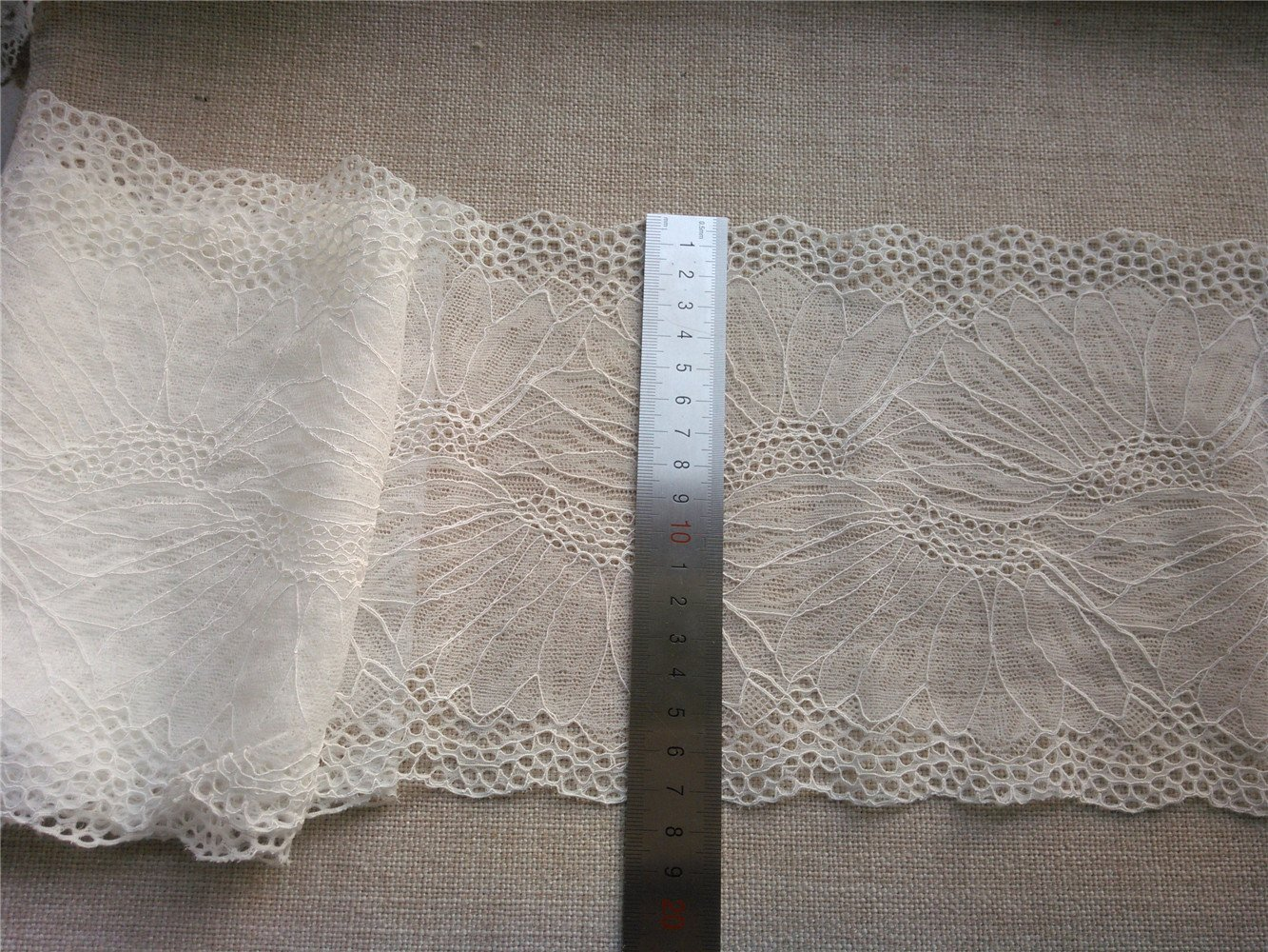 Stretch lace trim,5yards white lace,garter lace trimming-LSY007