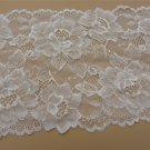 Stretch lace trim,5yards white lace,garter lace trimming-LSY019