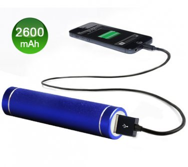 Dark Blue Portable USB Cell Phone Charger Power Bank iPhone Samsung PSP HTC