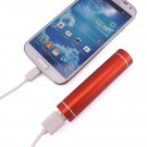 Red Portable USB Cell Phone Charger Power Bank iPhone Samsung PSP HTC