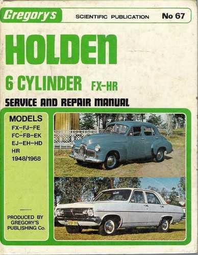 Holden FX-HR Service & Repair Manual -Hardcover