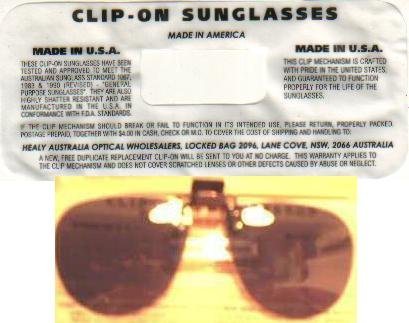 Clip - On Sunglasses - NEW - in hard case.