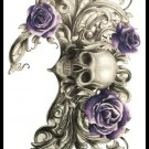 Skull sexy Waterproof Removable Temporary Tattoo Body Arm Art Sticker