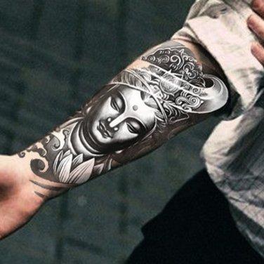 Buddha Buddism Waterproof Removable Temporary Tattoo Body Arm Art Sticker