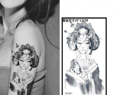 Tattoo Woman Waterproof Removable Temporary Tattoo Body Arm Art Sticker