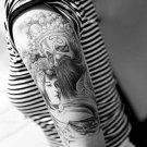 Chinese Opera Woman Waterproof Removable Temporary Tattoo Body Arm Art Sticker