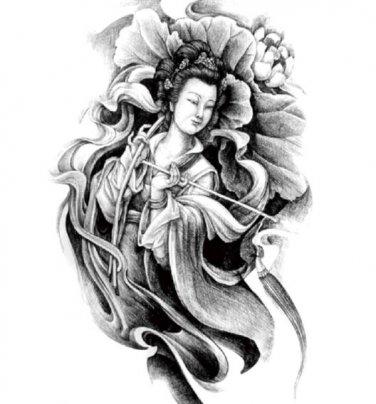 Dun Huang Woman Waterproof Removable Temporary Tattoo Body Arm Art Sticker
