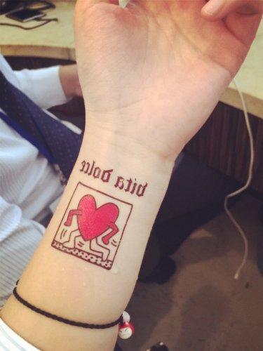 Big Bang Running Heart Sexy Waterproof Removable Temporary Tattoo Body Arm Art Sticker