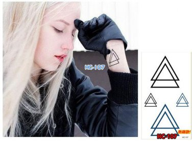Triangle Waterproof Removable Temporary Tattoo Body Arm Art Sticker