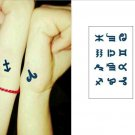 Zodiac Signs Waterproof Removable Temporary Tattoo Body Arm Art Sticker