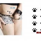 Paw Prints Waterproof Removable Temporary Tattoo Body Arm Art Sticker