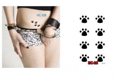 Paw Prints Waterproof Removable Temporary Tattoo Body Arm Art Sticker