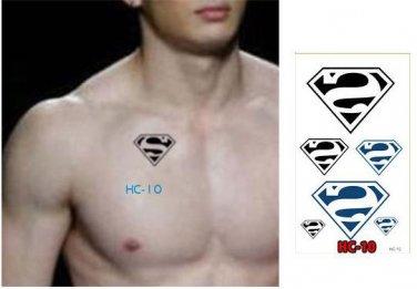 Superman Waterproof Removable Temporary Tattoo Body Arm Art Sticker