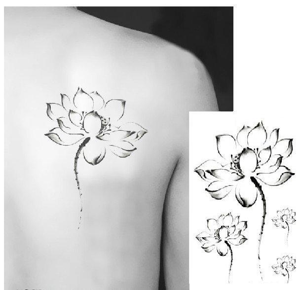 INK LOTUS Waterproof Removable Temporary Tattoo Body Arm Art Sticker